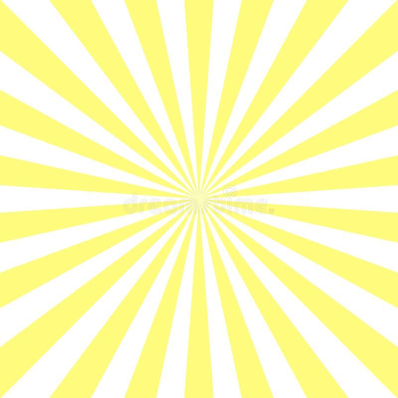 Fondo abstracto de la luz del sol Fondo amarillo de explosión de color del polvo libre illustration