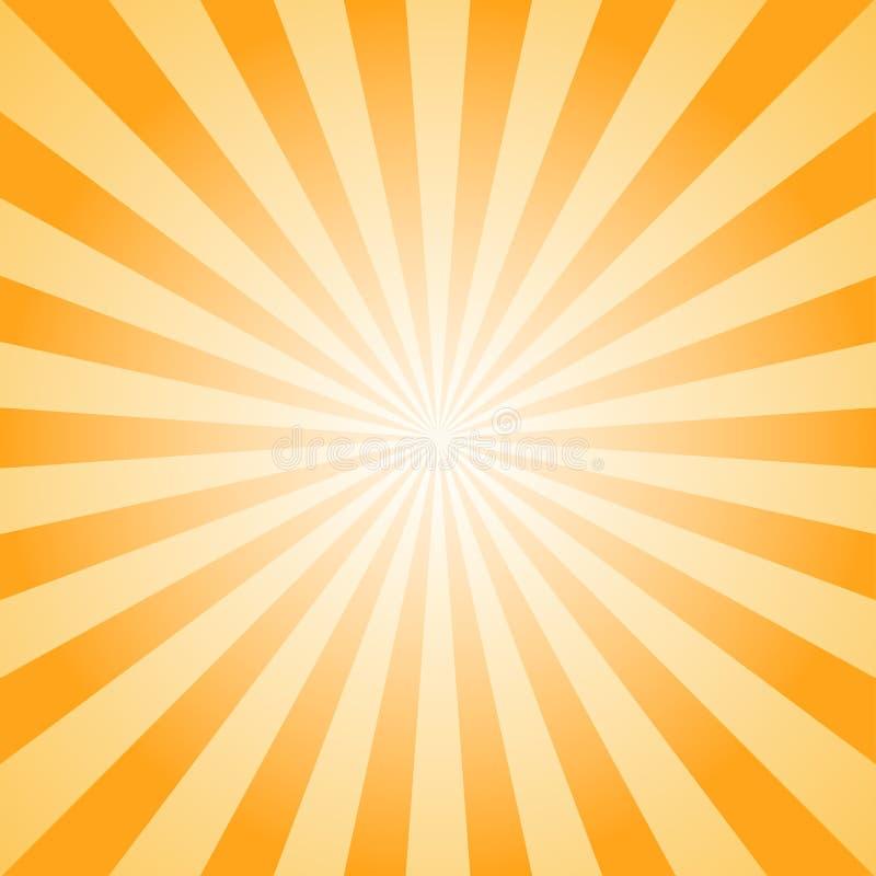 Fondo abstracto de la luz del sol Fondo anaranjado y marrón de explosión de color ilustración del vector