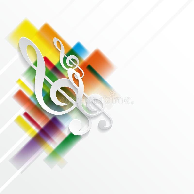 Fondo abstracto de la música ilustración del vector