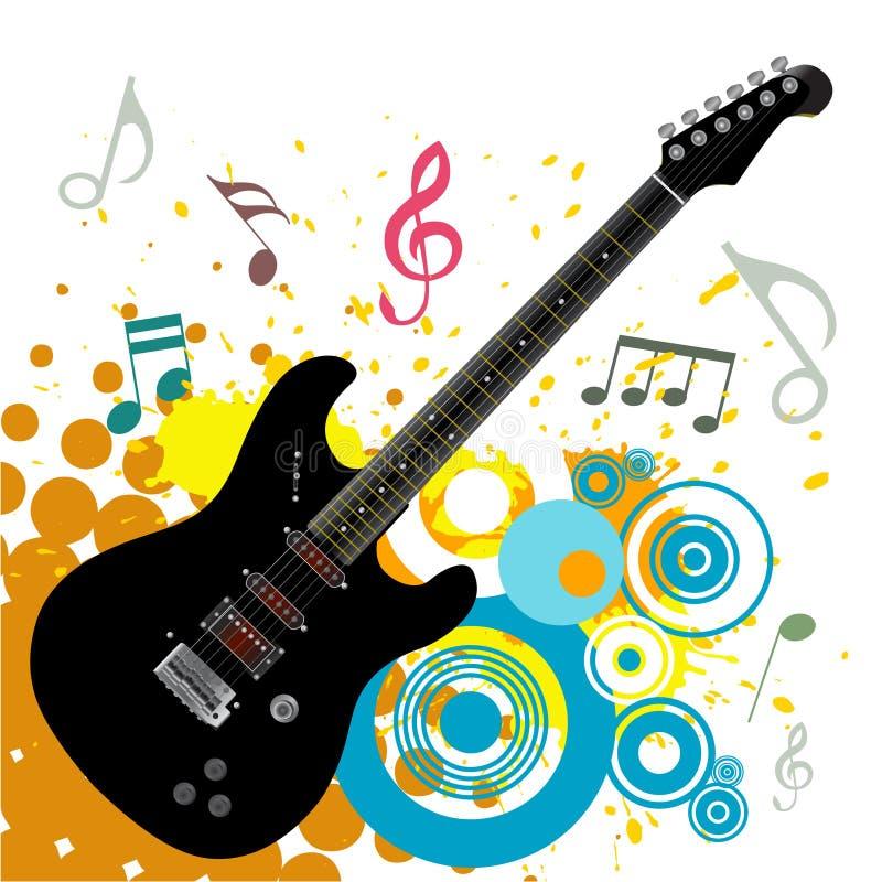 Fondo abstracto de la música stock de ilustración