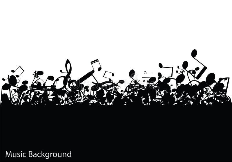 Fondo abstracto de la música con las notas,  stock de ilustración