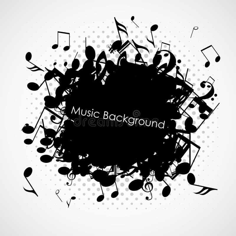 Fondo abstracto de la música con las notas, libre illustration