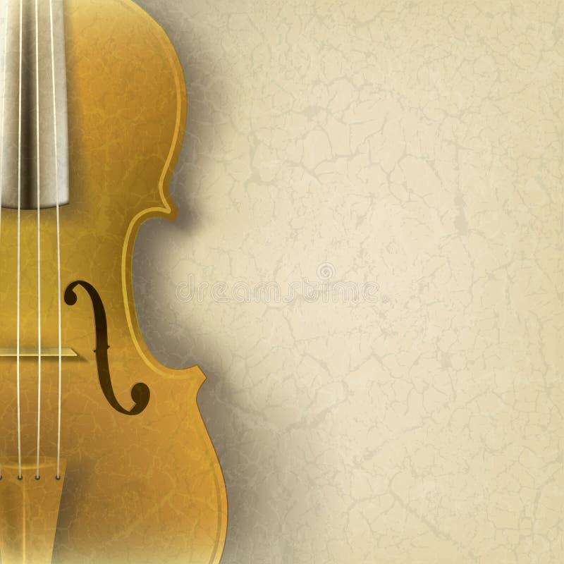 Fondo abstracto de la música del grunge con el violín stock de ilustración