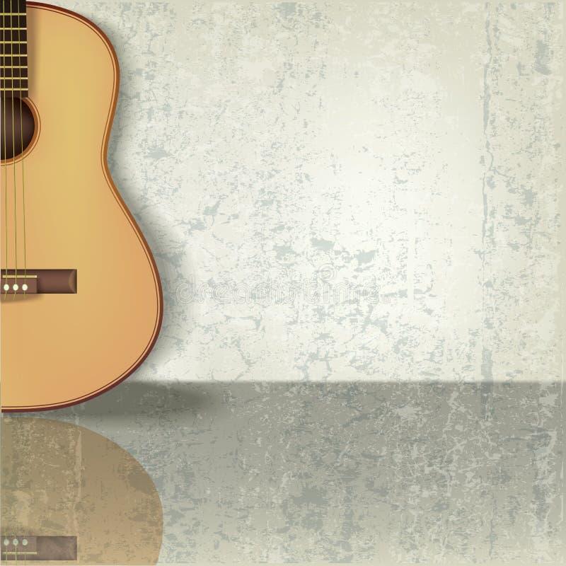 Fondo abstracto de la música del grunge con la guitarra libre illustration