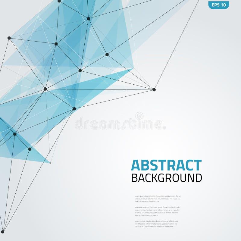 Fondo abstracto de la malla con los triángulos, las líneas y los puntos Ilustración del vector stock de ilustración