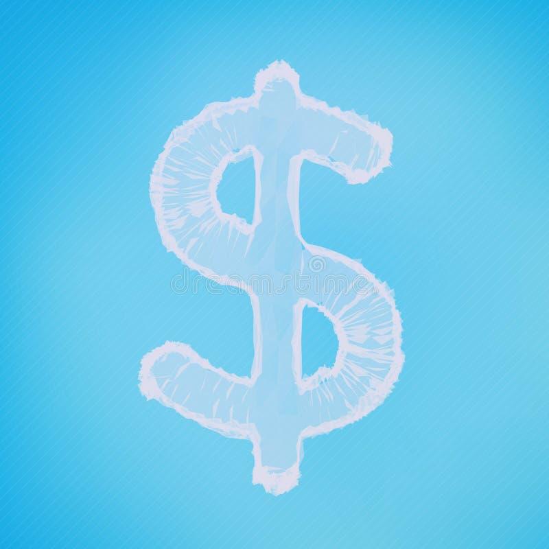 Fondo abstracto de la malla del vector Muestra de dólar Estilo futurista de la tecnología libre illustration