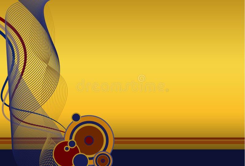 Fondo abstracto de la marina y del oro libre illustration