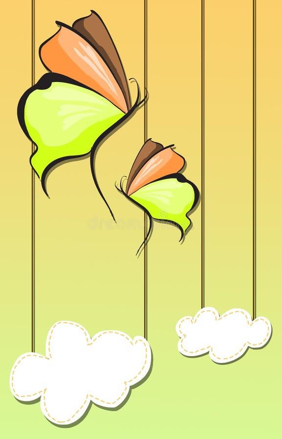 Fondo abstracto de la mariposa fotografía de archivo libre de regalías
