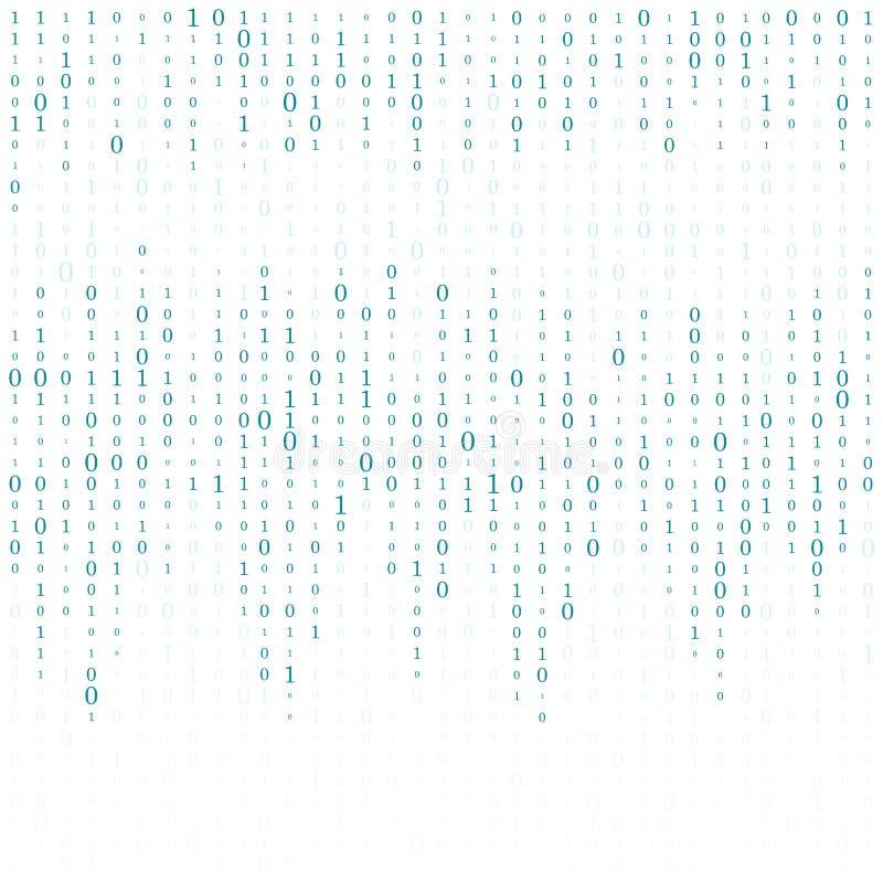 Fondo abstracto de la matriz Código de ordenador binario codificación Concepto del pirata informático Ilustración del fondo del v ilustración del vector