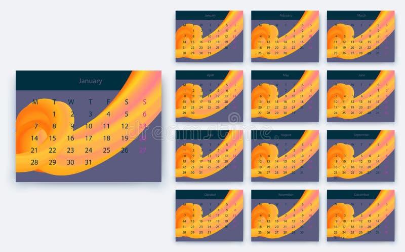 Fondo abstracto de la mezcla Plantilla para el sitio web stock de ilustración