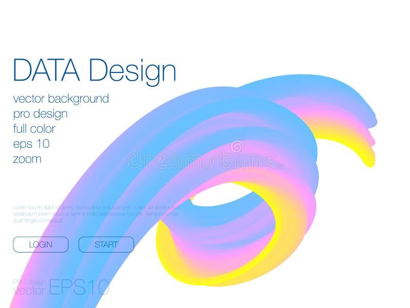 Fondo abstracto de la mezcla Plantilla para el sitio web ilustración del vector
