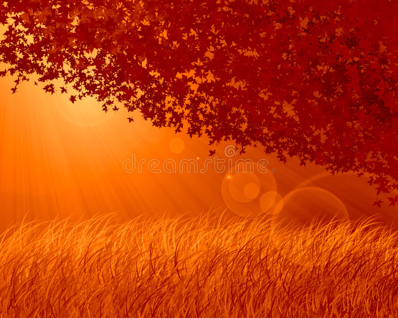 Fondo abstracto de la naranja del bosque ilustración del vector