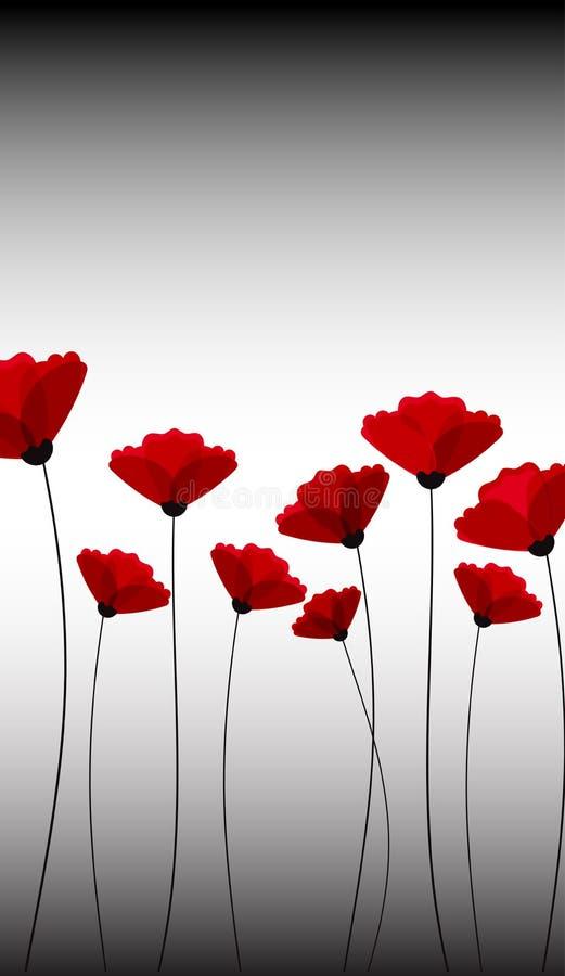 Fondo abstracto de la naturaleza Flores rojas de la amapola libre illustration