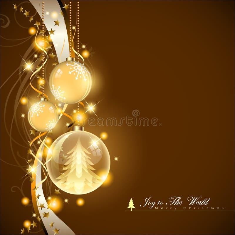 Fondo abstracto de la Navidad Bolas y concepto de la Navidad Vector y ejemplo, EPS 10 stock de ilustración