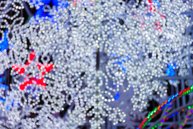 Fondo abstracto de la Navidad con el bokeh blanco foto de archivo