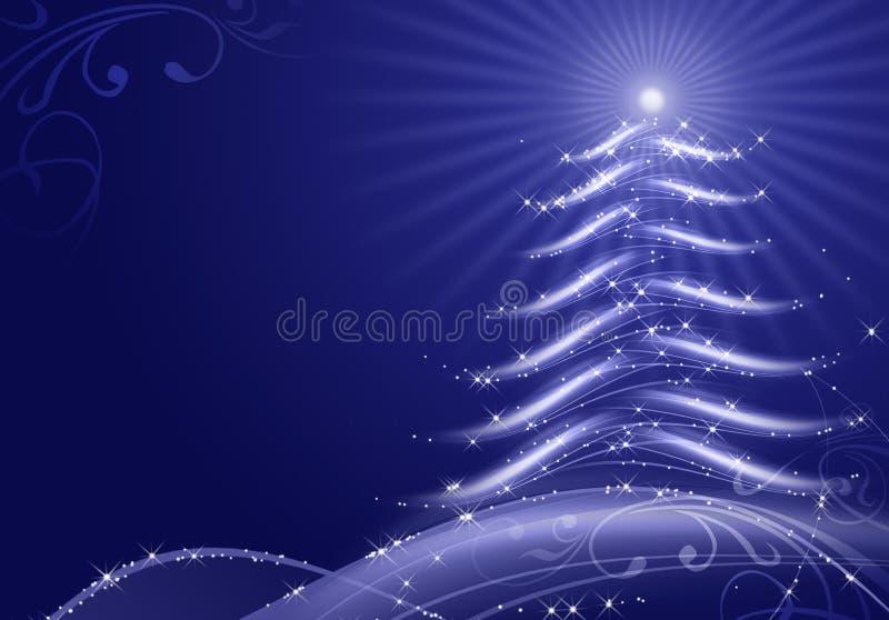 Fondo abstracto de la Navidad con las escamas de la nieve stock de ilustración