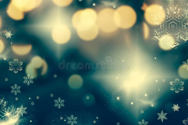 fondo abstracto de la Navidad con las luces del día de fiesta imagen de archivo