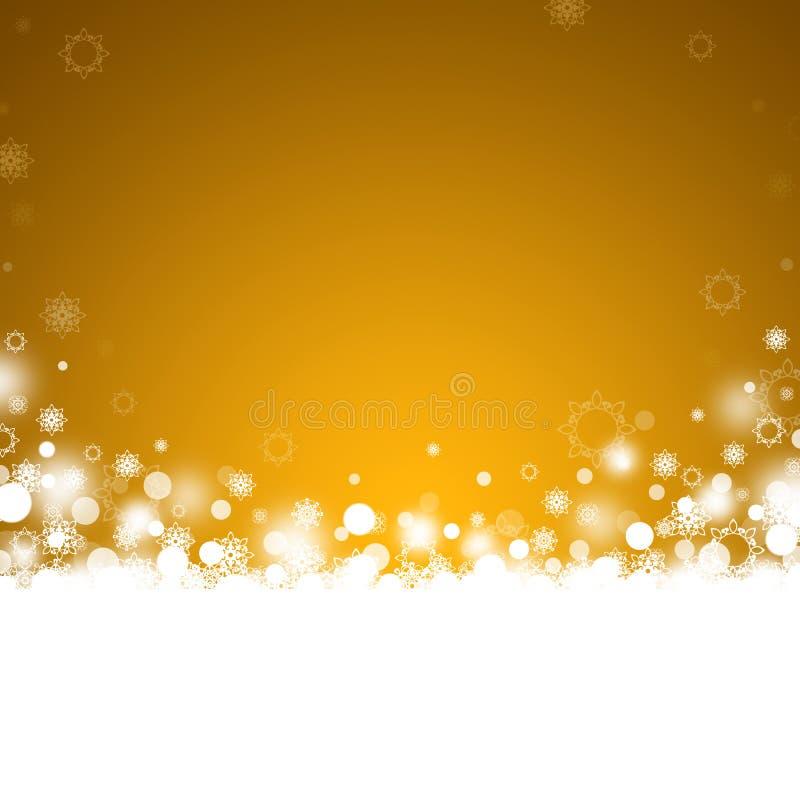 Fondo abstracto de la Navidad del oro stock de ilustración