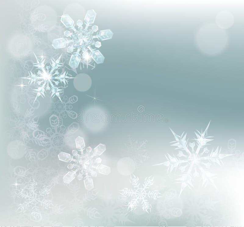 Fondo abstracto de la nieve de los copos de nieve libre illustration