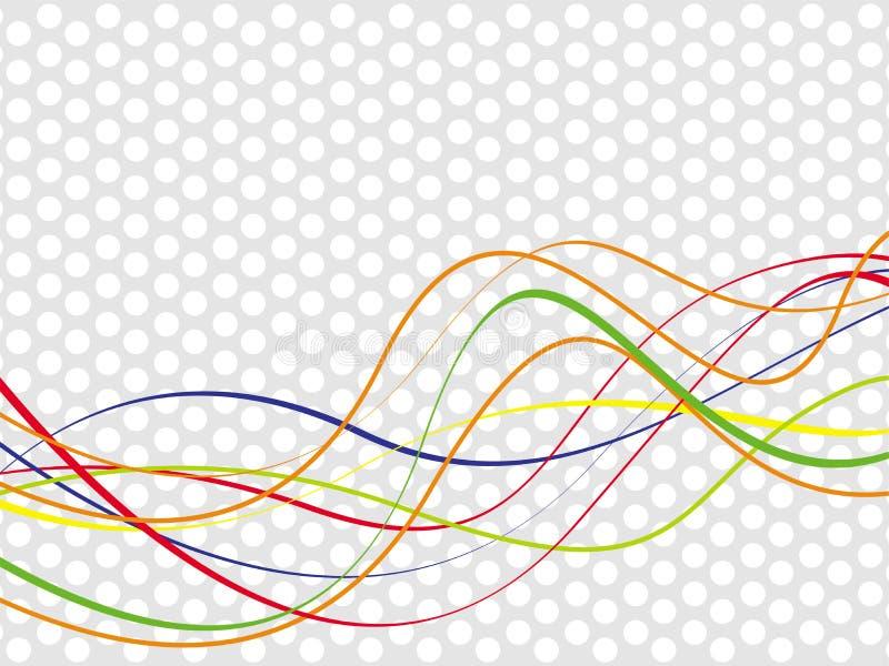 Fondo abstracto de la onda stock de ilustración