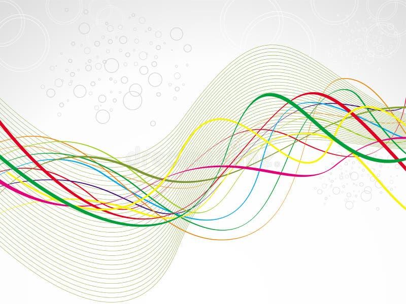 Fondo abstracto de la onda ilustración del vector