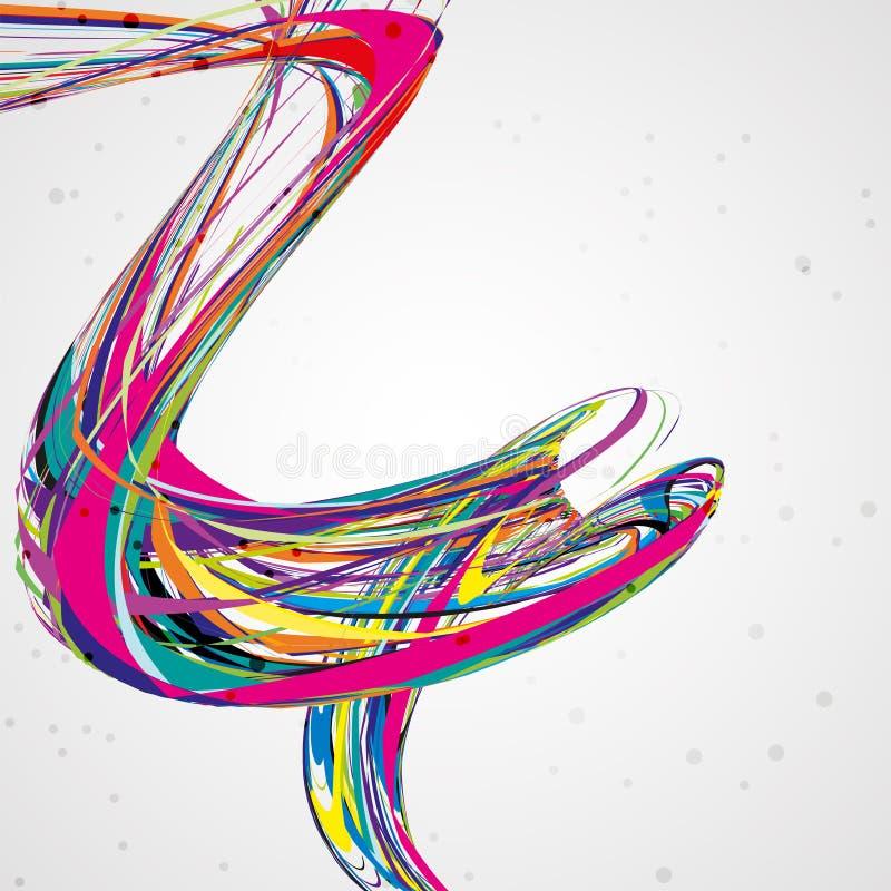 Fondo abstracto de la onda libre illustration
