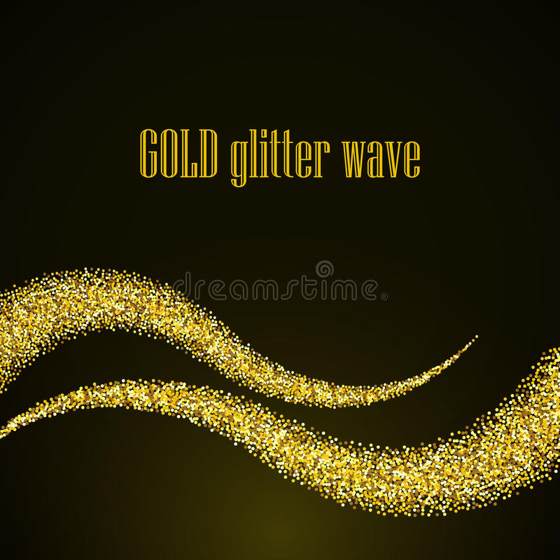 Fondo abstracto de la onda de la estrella del brillo del polvo de oro, plantilla eps10 del diseño del vector libre illustration