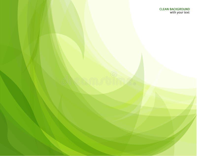 Fondo abstracto de la onda verde stock de ilustración