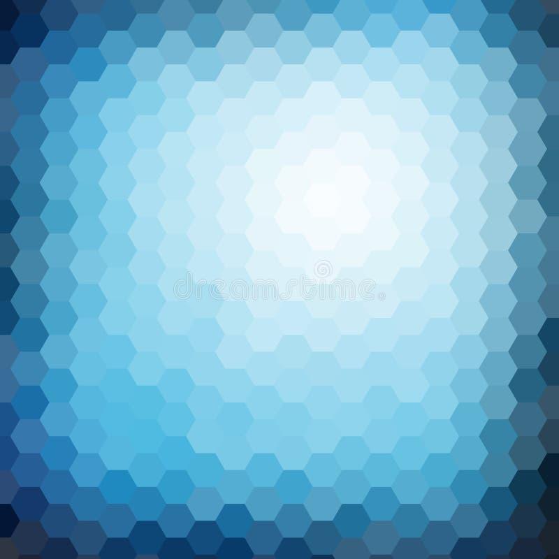 Fondo abstracto de la pendiente del mosaico del hexágono stock de ilustración