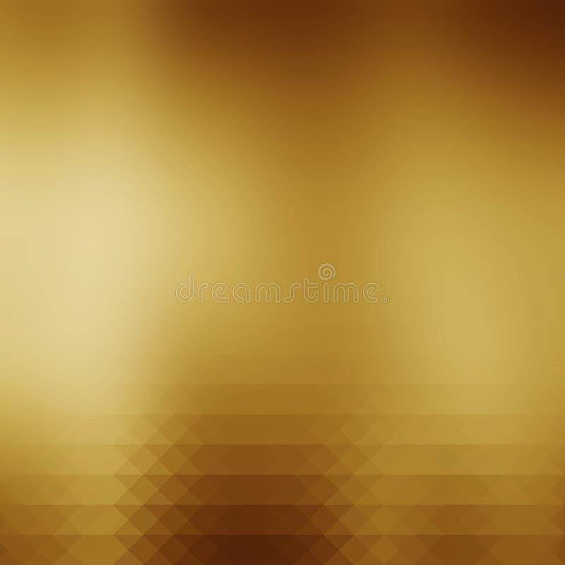 Fondo abstracto de la pendiente del oro ilustración del vector