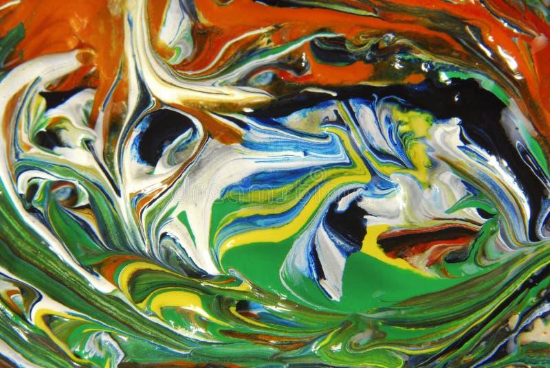 Fondo abstracto de la pintura al óleo imagenes de archivo