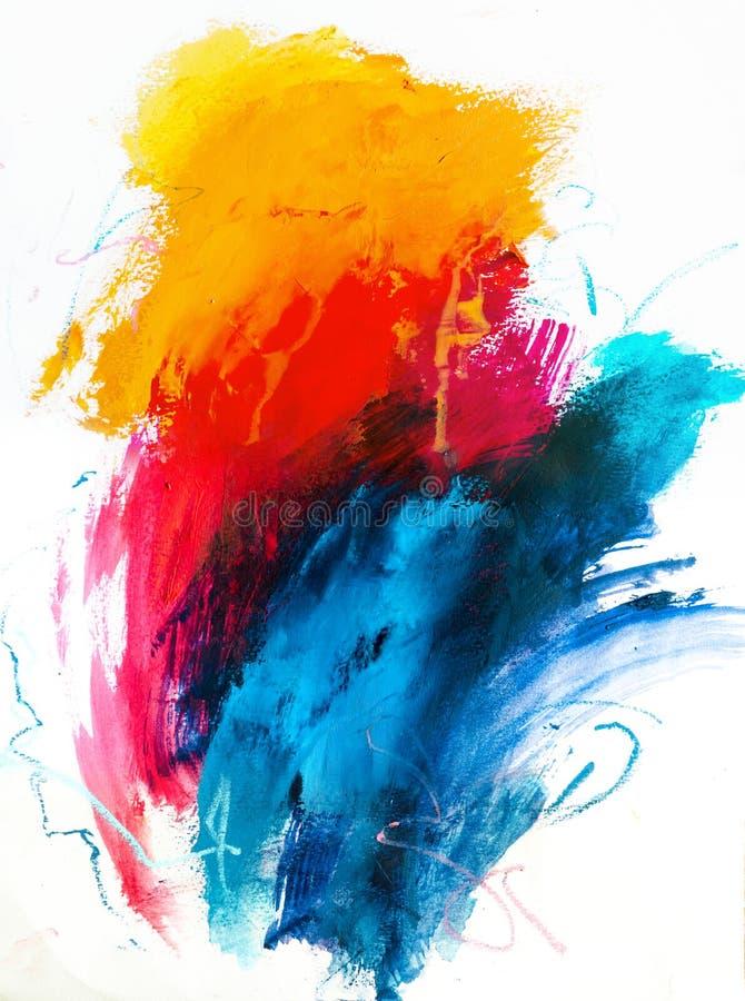 Fondo abstracto de la pintura al óleo Aceite en textura de la lona Mano dibujada imagen de archivo libre de regalías