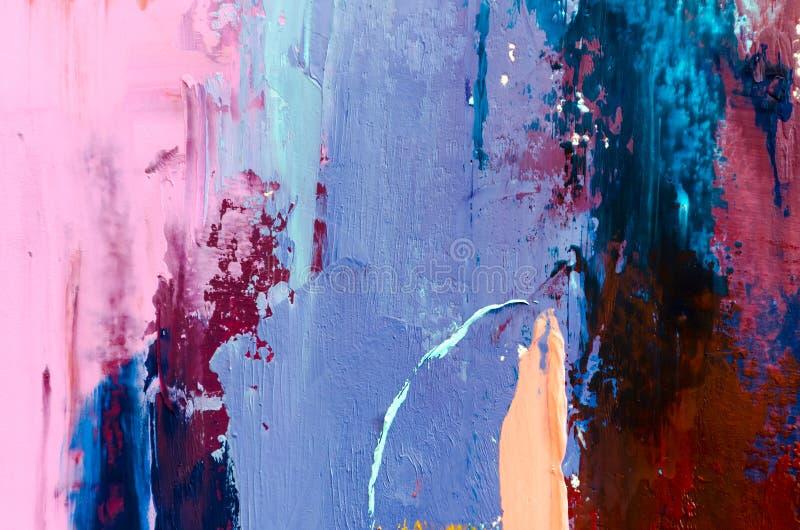 Fondo abstracto de la pintura al óleo Aceite en textura de la lona Mano dibujada imágenes de archivo libres de regalías