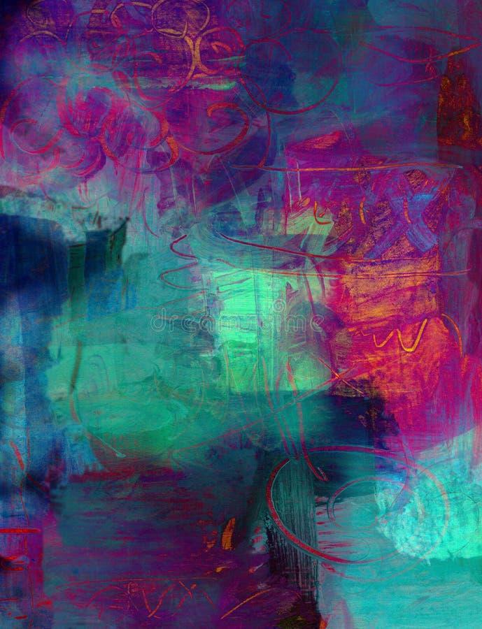 Fondo abstracto de la pintura de acrílico stock de ilustración