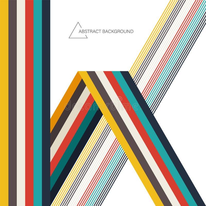 Fondo abstracto de la plantilla del diseño de la disposición del arte moderno decorativo con forma geométrica colorida stock de ilustración