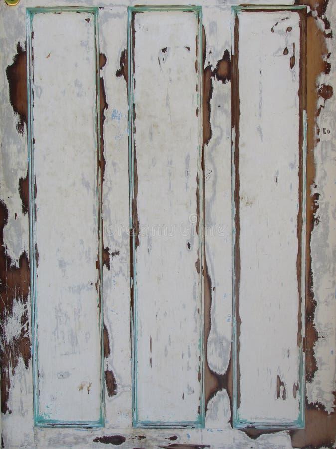 Fondo abstracto de la puerta pintada de madera vieja imagen de archivo libre de regalías