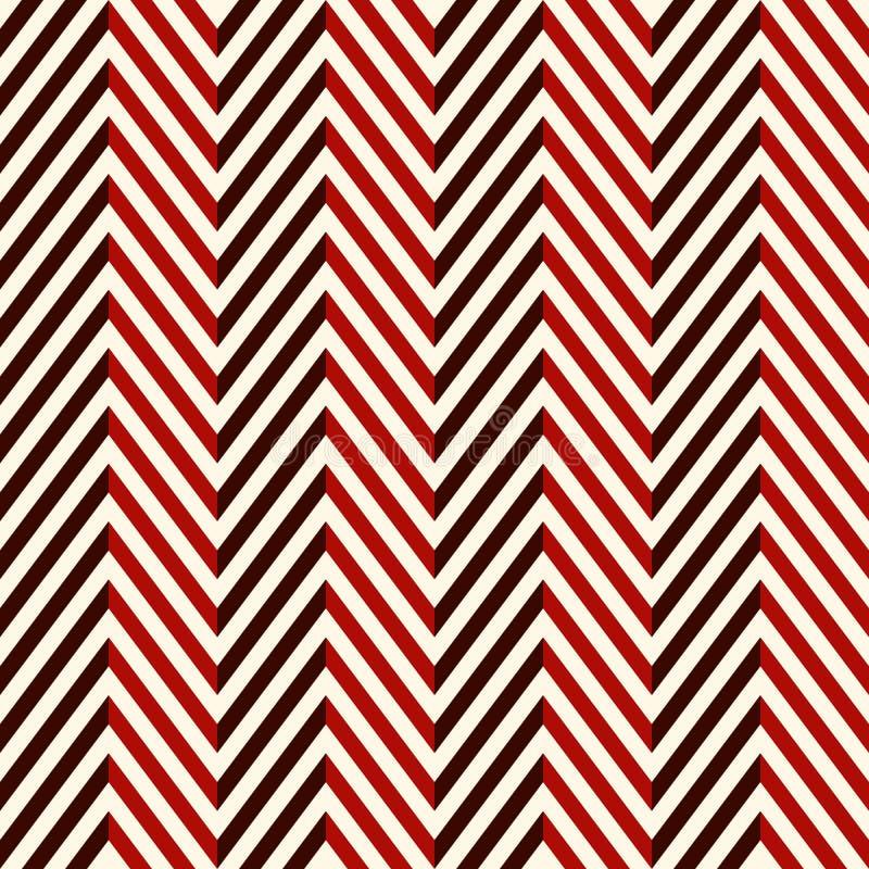 Fondo abstracto de la raspa de arenque El modelo inconsútil de los colores rojos con la diagonal del galón alinea ilustración del vector