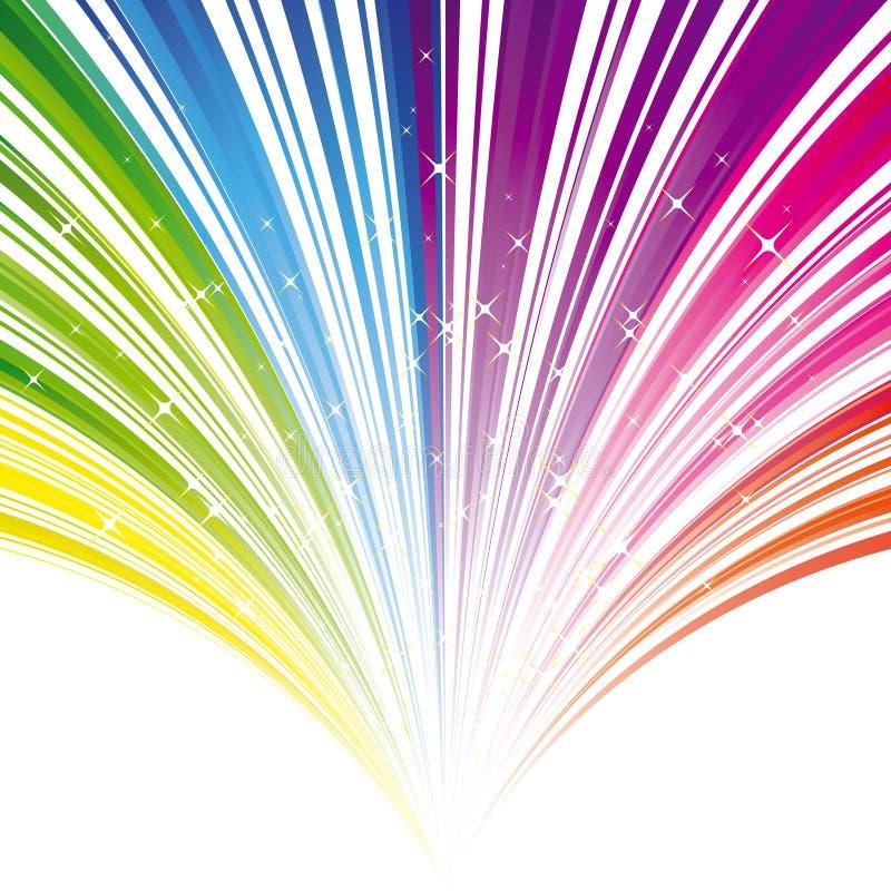Fondo abstracto de la raya del color del arco iris libre illustration