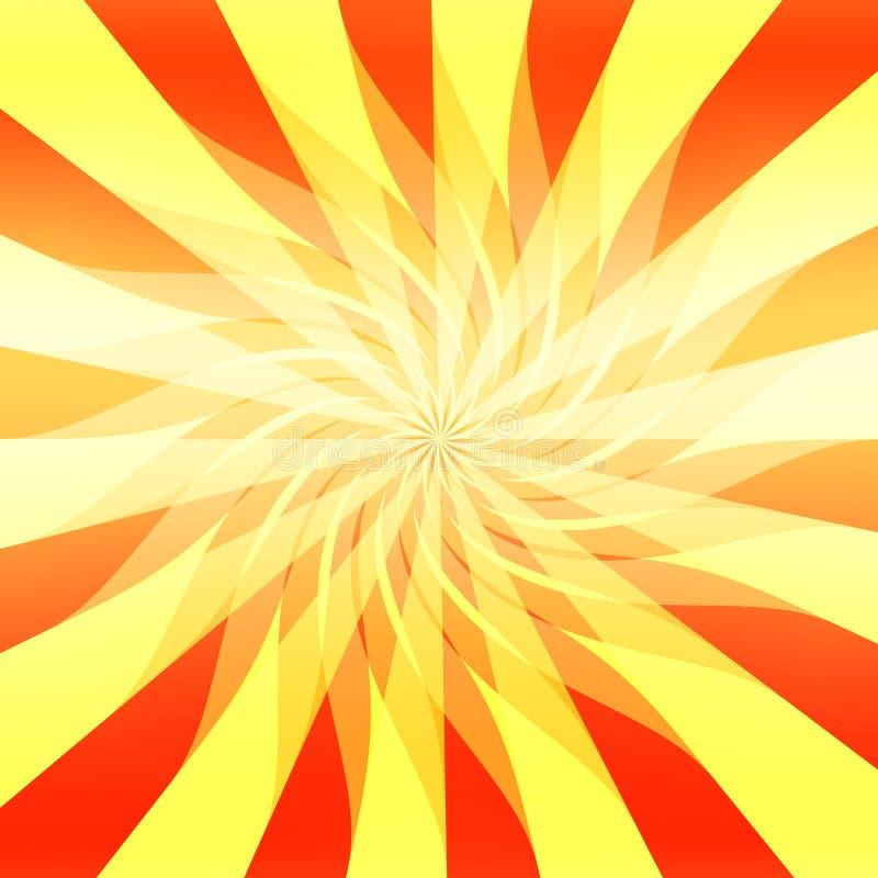 Fondo abstracto de la sol stock de ilustración