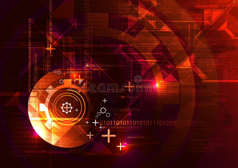 Fondo abstracto de la tecnología stock de ilustración