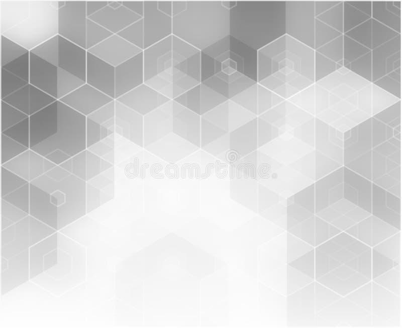 Fondo abstracto de la tecnología Capas usadas de la transparencia del efecto de luces y de formas ilustración del vector