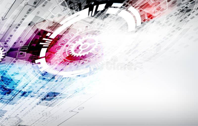 Fondo abstracto de la tecnología de comunicación digital del color libre illustration