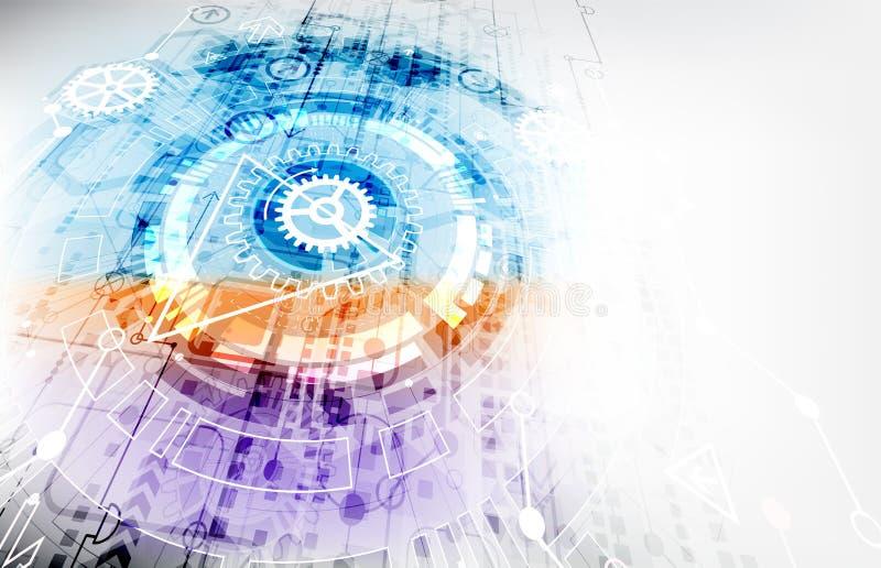 Fondo abstracto de la tecnología de comunicación digital del color ilustración del vector