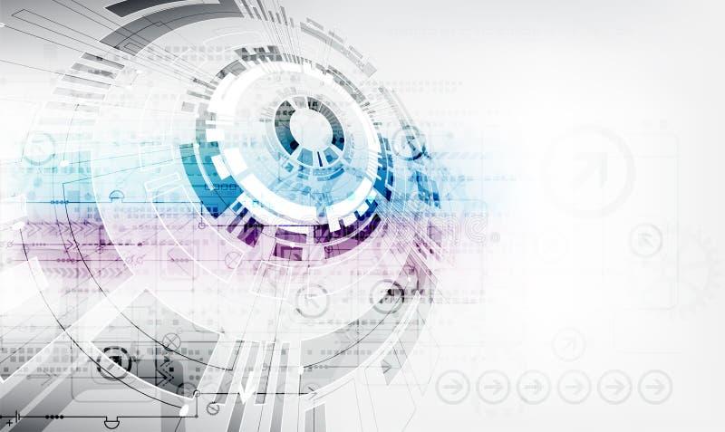 Fondo abstracto de la tecnología de comunicación digital del color stock de ilustración
