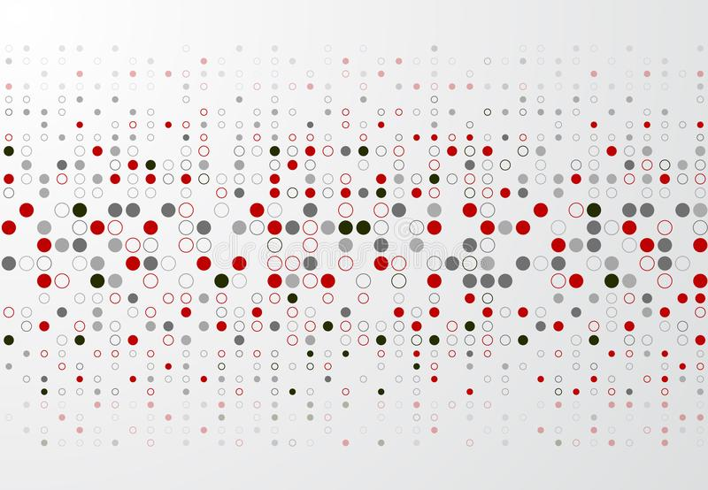 Fondo abstracto de la tecnología con la frontera roja y gris p del círculo ilustración del vector