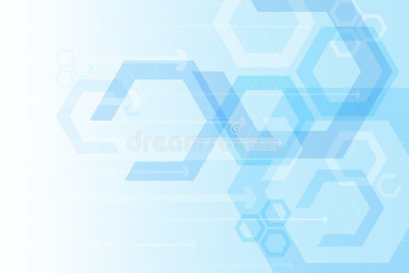 Fondo abstracto de la tecnología de la flecha, tono azul, vector ilustración del vector