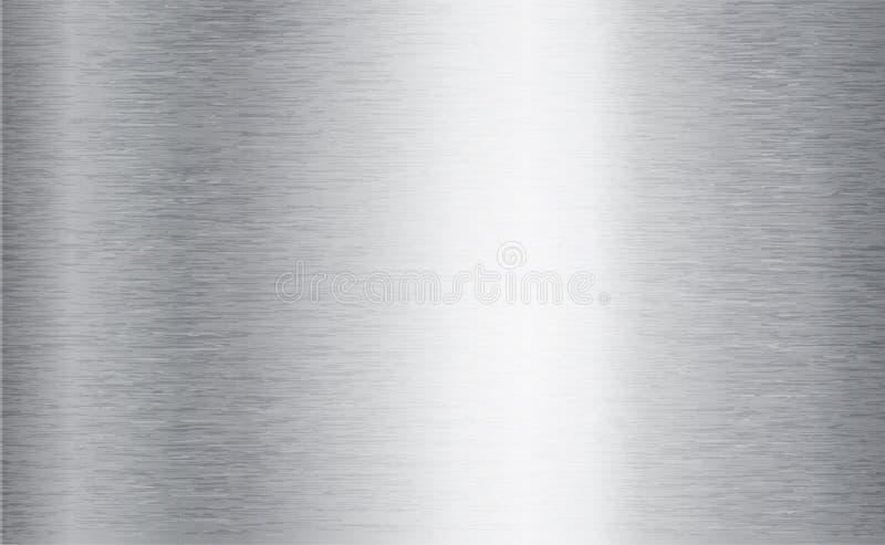 Fondo abstracto de la tecnología del metal Aluminio con la textura pulida, cepillada, cromo, plata, acero, para el diseño ilustración del vector