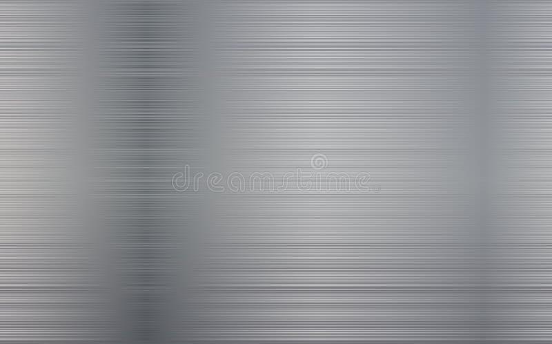 Fondo abstracto de la tecnología del metal Textura pulida, cepillada Chrome, plata, acero, aluminio ilustración del vector
