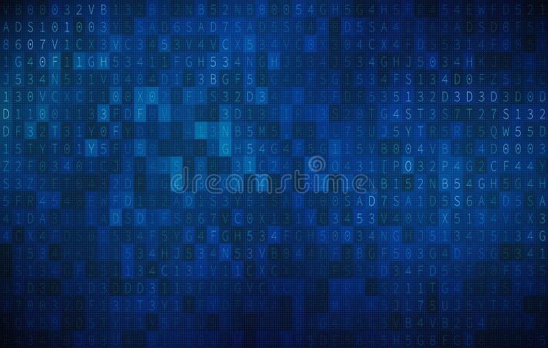 Fondo abstracto de la tecnología de Digitaces, alfabetos ingleses ilustración del vector