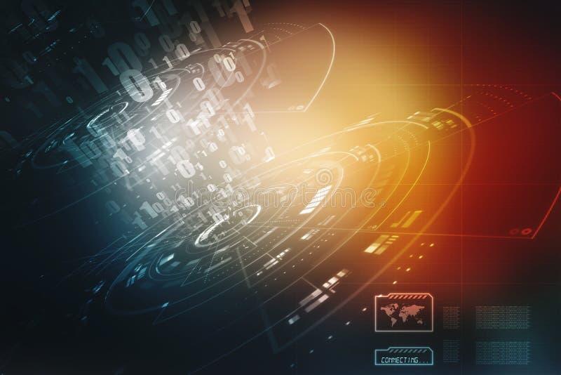 Fondo abstracto de la tecnología de Digitaces, fondo futurista stock de ilustración